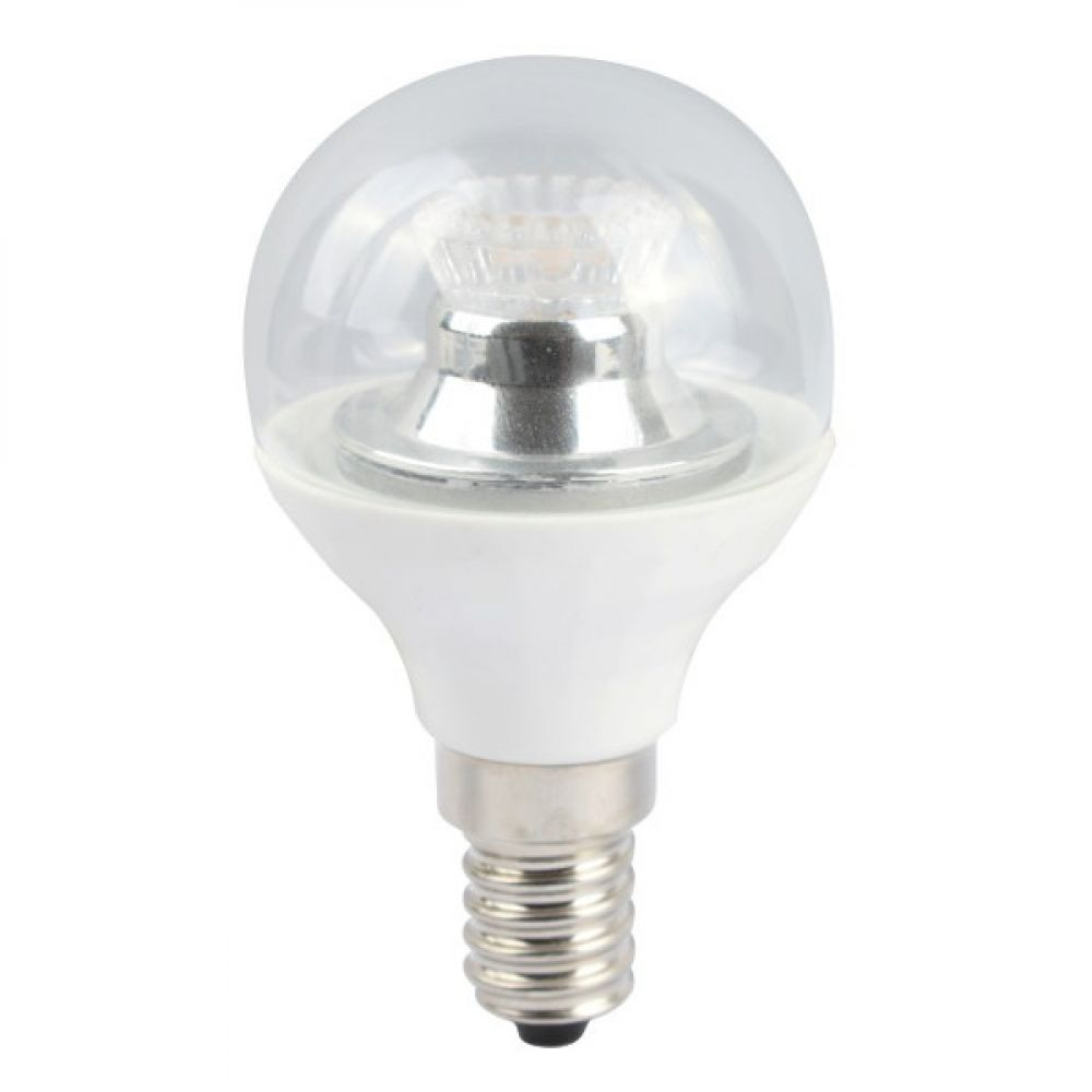 05149 led 4w dimmable clear e14 ses 45mm round golf ball light bulb cool white. Black Bedroom Furniture Sets. Home Design Ideas